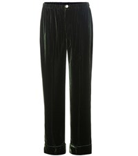For Restless Sleepers Velvet Trousers Green