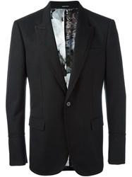 Alexander Mcqueen One Button Blazer Black