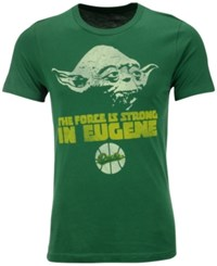 Tailgate Clothing Men's Oregon Ducks Yoda Force Is Strong T Shirt