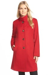 Women's Fleurette Cashmere Stand Collar Car Coat Apple