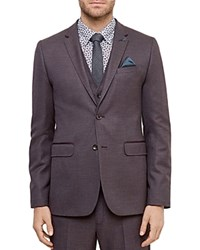 Ted Baker Cabrini Mini Design Regular Fit Sport Coat Purple
