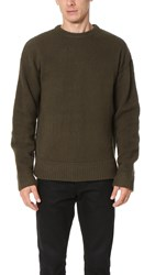 Alexander Wang Piped Sweater Army Green