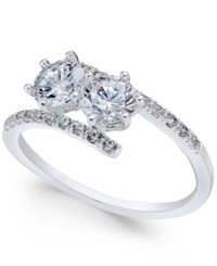 Charter Club Silver Tone Two Stone And Pave Crystal Bypass Ring Only At Macy's