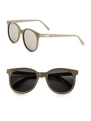 Prism New York 52Mm Round Sunglasses Brown