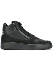 Hogan Rebel Zipped Hi Top Sneakers Black