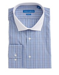 Vince Camuto Plaid Button Front Dress Shirt Cobalt