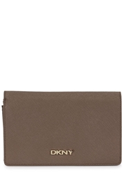 Dkny Bryant Park Taupe Leather Wallet