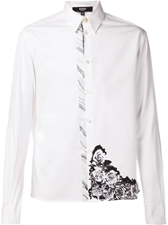Versus Wave Flower Print Shirt White