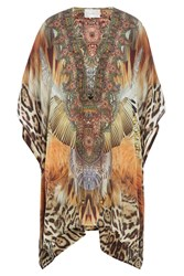 Camilla Embellished Silk Tunic Multicolor