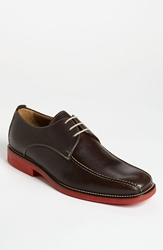 Michael Toschi 'Mirco' Bicycle Toe Derby Chocolate Red Sole