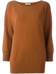 Max Mara Bat Wing Sleeve Jumper Brown
