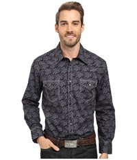 Rock And Roll Cowboy Long Sleeve Snap B2s8413 Black Men's Clothing