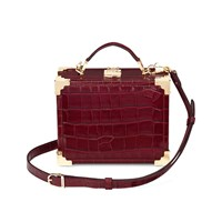 Aspinal Of London Mini Trunk Bag Bordeaux