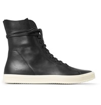 Rick Owens Mastodon Leather High Top Sneakers Black