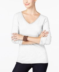 Inc International Concepts V Neck Top Only At Macy's Bright White