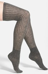 Women's Vince Camuto Lightweight Over The Knee Socks Grey Online Only Medium Grey Heather