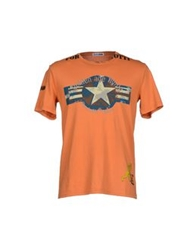 Cesare Paciotti 4Us T Shirts Orange