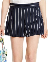 Polo Ralph Lauren Striped Silk Shorts Blue Cream