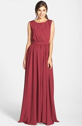 Women's Paper Crown By Lauren Conrad 'Tori' Crepe Gown Spiced Wine