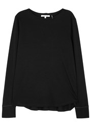 Helmut Lang Black Cotton And Cashmere Blend Top