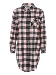 Jane Norman Over Sized Check Nightwear Shirt Multi Coloured