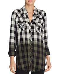 Signorelli Plaid Ombre Shirt Black White Charcoal