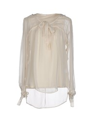 P.A.R.O.S.H. Shirts Blouses Women Ivory