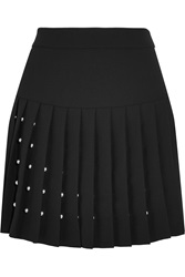 Mcq By Alexander Mcqueen Studded Crepe Mini Skirt