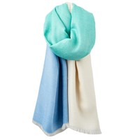 Joules Berkley Colour Block Scarf Azure Mint