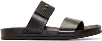 Common Projects Black Double Strap Sandals