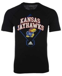 Adidas Men's Kansas Jayhawks Baseball Diamond T Shirt Black