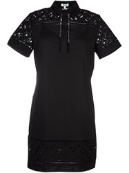 'Flying Kenzo' Shirt Dress Black