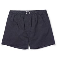 Derek Rose Plaza Polka Dot Boxer Shorts Navy