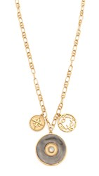 Tory Burch Coin Cluster Pendant Necklace Multi Gold Ox