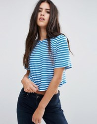 Pixie And Diamond Striped T Shirt Blue White Stripe
