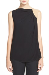 Armani Collezioni Sleeveless Colorblock Top Black Nude