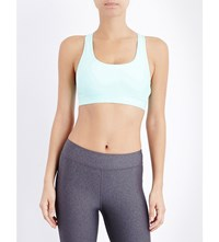 Under Armour Crossback Mid Stretch Jersey Sports Bra Crystal