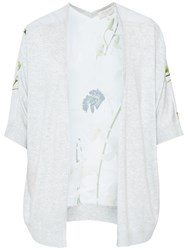 Ted Baker Kembly Pearly Petal Wrap Cardigan Ash
