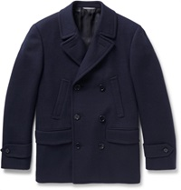 Canali Slim Fit Textured Wool And Cashmere Blend Peacoat Blue