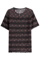 Marc By Marc Jacobs Cherry Printed Top With Lace Multicolor