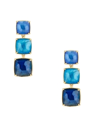 Kate Spade Madison Ave. Collection Swan Dive Statement Earrings Blue Multi