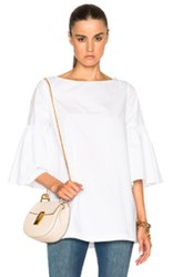 Suno Trumpet Top In White