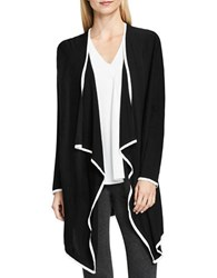 Vince Camuto Drape Front Long Sleeve Cardigan Black