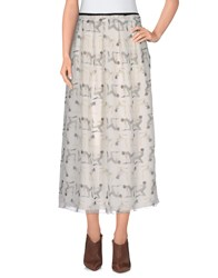 Andrea Incontri Skirts 3 4 Length Skirts Women Ivory