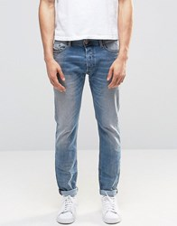 Diesel Tepphar Skinny Jeans 857L Light Distressed Light Wash Blue