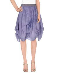 Trussardi Jeans Skirts Knee Length Skirts Women Lilac