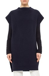 Akris Punto Women's Putno Cap Sleeve Rib Knit Wool Tunic