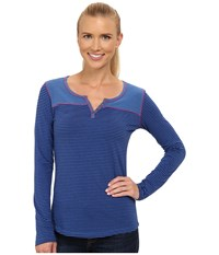 Kuhl Veloce Long Sleeve Top Blue Sapphire Women's Long Sleeve Pullover