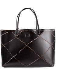 Roger Vivier Perforated Leather Tote Black