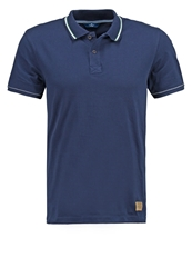 Tom Tailor Fitted Polo Shirt Blue Dark Blue